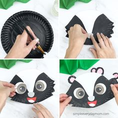 Learn how to make this easy paper plate skunk craft with the kids. It's a fun woodland or forest animal activity that's great for preschoolers, kindergarten, and elementary aged children. Download the free printable template and make today!