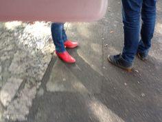 Rode schoentjes van Jeannette