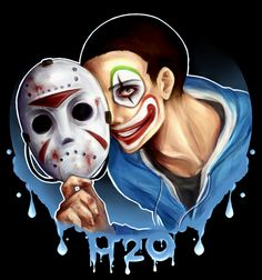 H2O Delirious;he is one of my inspirations.if u don't know him he's a famous youtuber . like u don't understand how much I love this guy ! Omg he followed me though.