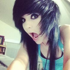 Discover and share Emo Scene Girls Quotes. My Hairstyle, Pretty Hairstyles, Girl Hairstyles, Hairstyle Ideas, Easy Hairstyles, Hair Ideas, Wedding Hairstyles, Nu Goth, Punk