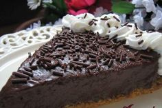 Sugar-Free Chocolate Cream Pie #stevia #recipes #diabetic