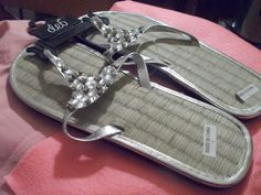 Brand New Silver and Gemstone Sandals