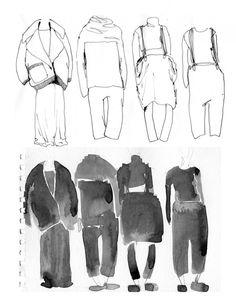 Fashion Sketchbook - fashion sketches; watercolour drawings; fashion portfolio // Grace Cox