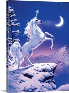 Unicorn Painting, Unicorn Wall Art, Unicorn Drawing, Unicorn And Fairies, Unicorn Fantasy, Real Unicorn, Unicorn Horse, Cute Unicorn, Unicorn Images