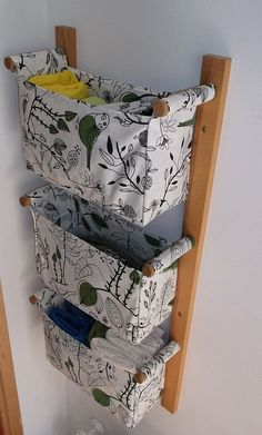 FREE SHIPPING / Wall organizer  with 3 fabric boxes  by OdorsHome, $97.00 : I would make this myself.