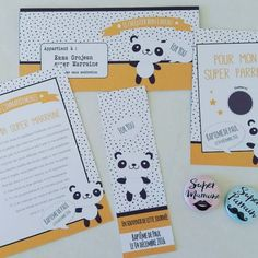 kits cadeaux parrain marraine thème panda création le monde de Bibou
