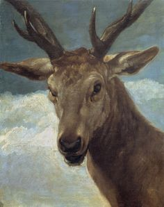 Diego Velazquez - Head of a Stag. 1634