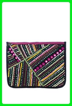 L.COLETTE Hand Made Bohemian Indian Embroidery Sequins Mini Bead and Tread Large Size Clutch Bag - Clutches (*Amazon Partner-Link)