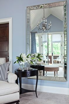 Black, white, blue and that mirror!!