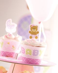 Teddy Baby Pink tableware and accessories by Creative Converting now available at Red Party Hat.