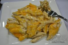 Healthier macaroni & cheese, with just chicken stock, fat free cheddar & cream cheese, whole grain noodles, greek yogurt, garlic, and milk. So Easy and simple for the best tasting healthy version of Mac and cheese