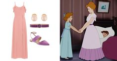 5 looks inspired by our favorite Disney and Disney•Pixar Moms   Mother's Day fashion   Mrs. Darling, Peter Pan   [ https://style.disney.com/fashion/2016/05/07/looks-inspired-by-the-best-disney-moms/ ]
