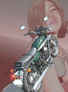 東本昌平先生のイラストには魔力があります。彼の魅惑のイラストの数々から、美女とバイクが描かれた作品を一挙紹介します。 ©東本昌平・モーターマガジン社