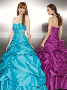 Ball Gown Sweetheart Taffeta With Beadeding Ruched Layered Prom Dress PD10502
