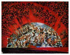 """Федор Федоровский   """"Героическое действо"""". Эскиз декорации на музыку В. Небольсина. 1927 год."""