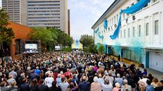 THOUSANDS OF SCIENTOLOGISTS and their guests congregated in the city's downtown core to witness the festive ribbon cutting on Saturday, November 19. http://qoo.ly/caxzc