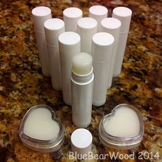 Home Made Peppermint Lip Balm Blue Bear Wood