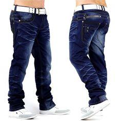 102c61e544f6 Neu Herren Jeans Hose SLASHHAMMER DE2 Style dicke Nähte Übergröße W36 - W42  Plus   eBay