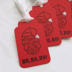 Christmas Gift Tags Santa Favor Tag  Set of by FreshLemonBlossoms, $4.95