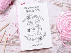 Fun Wedding Activities, Reception Activities, Activities For Kids, Best Wedding Favors, Wedding Book, Our Wedding Day, Business For Kids, Personalized Wedding, Coloring Books