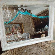 Kleiner, weißer Spiegel im Shabby Vintage Antik Chic byROSALIEseit2011'…