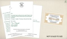 Harry Potter Free Printables - banner, train tickets, acceptance letters, etc.