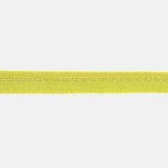 5 m Baumwollbiesenband 4mm Gelb - STOFF & STIL