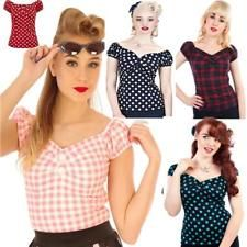 COLLECTIF DOLORES GYPSY BLOUSE TOP 50'S ROCKABILLY VINTAGE ALTERNATIVE Rockabilly Shirts, 50s Rockabilly, Bikinis, Swimwear, Gypsy, Red And White, Alternative, Blouse, Top