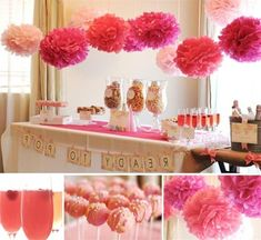 pink and hot pink baby girl shower ideas 2014