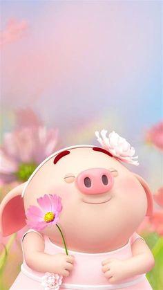 Pig Wallpaper, Wallpaper Iphone Love, Cool Wallpapers For Phones, Cute Cartoon Wallpapers, Mobile Wallpaper, Screen Wallpaper, Wallpaper Quotes, Pig Girl, Cute Piglets