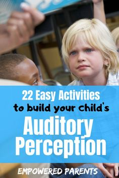 Build Your Child's Auditory Perception With These 22 Easy Activities - Auditory perception is an important skill for learning to read. These easy games and activities wil - Auditory Processing Activities, Auditory Learning, Auditory Processing Disorder, Sensory Activities, Infant Activities, Preschool Activities, Listening Activities, Sensory Diet, Health Activities