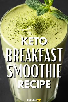 A simple blend of almond milk, spinach, avocado, coconut oil and vanilla protein, this low-carb breakfast smoothie is super fast and easy to make — and just 4g net carbs.
