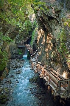 Narrow gorge near Fieberbrunn in Tyrol, Austria. This brings back great memories of my visit to Tyrol in Travel is so good. Places Around The World, Oh The Places You'll Go, Places To Travel, Places To Visit, Around The Worlds, Beautiful World, Beautiful Places, Tyrol Austria, Salzburg Austria