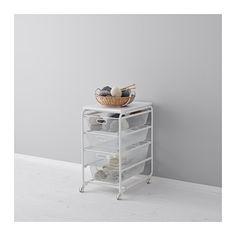 IKEA - ALGOT, Mandhou/fdraadmand/bovenblad/wiel, De onderdelen van de ALGOT serie kunnen op diverse manieren worden gecombineerd en zijn daardoor eenvoudig aan te passen aan de behoefte en de ruimte.De mand loopt soepel en heeft een blokkeerstuk, waardoor hij op zijn plaats blijft.Geschikt voor gebruik in het hele huis, zelfs in vochtige ruimtes zoals de badkamer of op overdekte balkons.