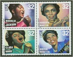 1998 32c Gospel Singers, Block of 4 Scott 3216-19 Mint F/VF NH  www.saratogatrading.com