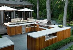 Outdoor kitchen cabinet. An additional challenge for the design team was to ensure that the kitchen would withstand the harsh…