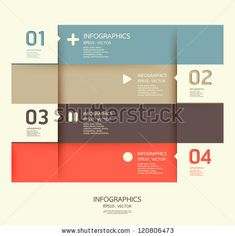 Modern Design Template / Can Be Used For Infographics / Numbered Banners / Horizontal Cutout Lines / Graphic Or Website Layout Vector - 120806473 : Shutterstock