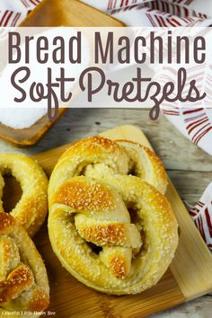 See how easy it is to make your own soft pretzels at home. Find full recipe details at gracefullittlehoneybee.com #softpretzels #breadmachine #homemade Snack Recipes, Dessert Recipes, Delicious Recipes, Homemade Soft Pretzels, Bread Machine Recipes, Bread Recipes, Easy Snacks, Healthy Snacks, Desert Recipes