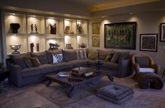African themed living rooms: beauty and style » Adorable Home