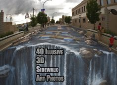 You HAVE to check out THIS art if you've never seem sidewalk art before, so real
