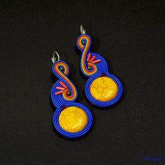 Margita - Soutache - Hand embroidered jewelry - Passion - Design - Art - Creation