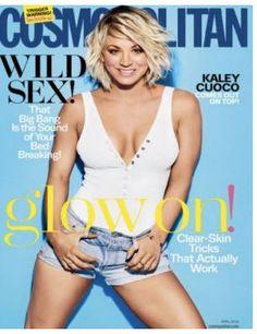Cosmopolitan Magazine - April 2016 US Edition (Kaley Cuoco) Melissa Rauch, Kaley Cuoco, Jessica Jung, Good Vibes Quotes Positivity, Cosmopolitan Magazine, Instyle Magazine, Social Trends, Portraits, Up Girl