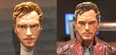 Star Lord Peter Quill Marvel Legends Action Figure Before and After
