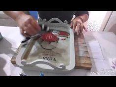 Pirinç dekupaj uygulama, ahşap uzeri #diy - YouTube