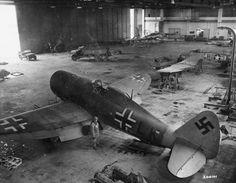 P-47 repainted with German colors at an airport in Göttingen 1945