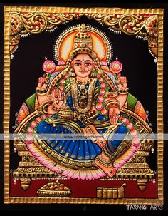 Mysore Painting, Tanjore Painting, Paintings Online, Online Painting, Navratri Images, Painting Gallery, Ancient Art, Indian Art, Deities