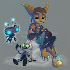 Ratchet and Clank by ~ZaidaCrescent on deviantART