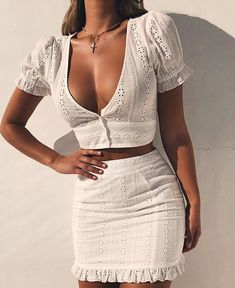 White Two Pieces Set Women Solid Tight Crop Top Sexy Package Hip Skirt Women Clothing Summer Outfits, White Two Pieces Set Women Solid Tight Crop Top Sexy Package Hip Skirt – geekbuyig. Trendy Outfits, Summer Outfits, Cute Outfits, Summer Dresses, Mini Dresses, Summer Wear, Modest Fashion, Fashion Outfits, Womens Fashion