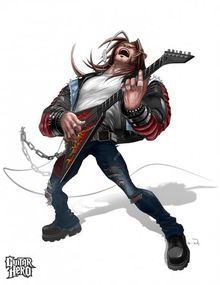 Axel from guitar hero: warriors of rock. which is installment of guitar hero franchise. Character Concept, Character Art, Concept Art, Character Design, Character Ideas, Character Creation, Guitar Hero, Brutal Legend, Heavy Metal Art