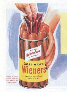 Wieners n' a sack-o-sauce.